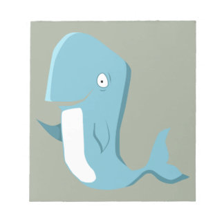 blue whale notepads