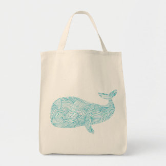 Blue Whale Organic Grocery Tote Bag