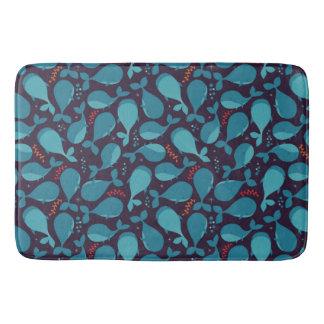 Blue Whale Pattern Bath Mat