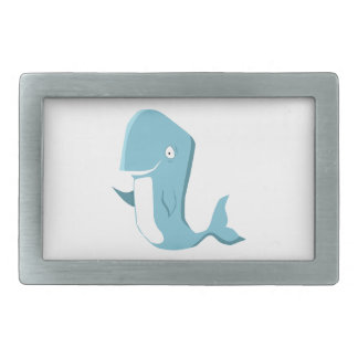 blue whale rectangular belt buckles