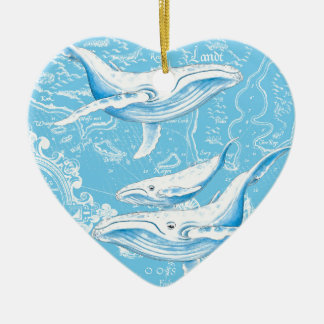 Blue Whales Family Ceramic Ornament