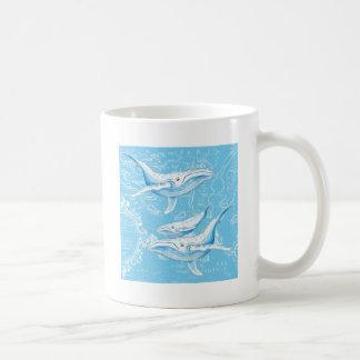 Blue Whales Family Coffee Mug