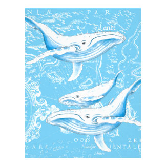 Blue Whales Family Customized Letterhead