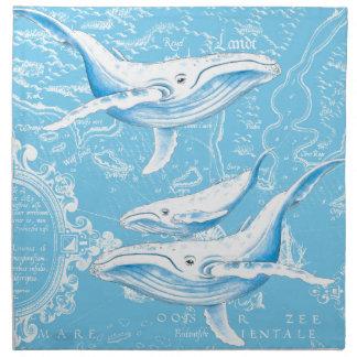 Blue Whales Family Napkin