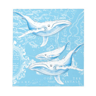 Blue Whales Family Notepad