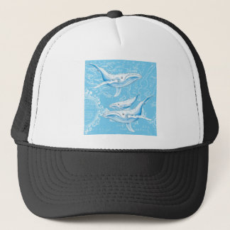 Blue Whales Family Trucker Hat