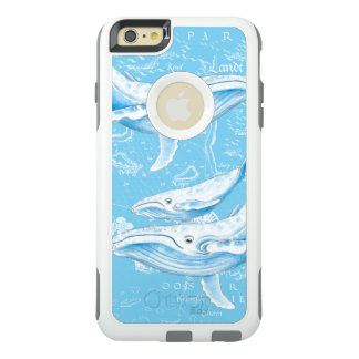 Blue Whales Family Vintage OtterBox iPhone 6/6s Plus Case
