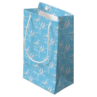 Blue Whales Family Vintage Small Gift Bag
