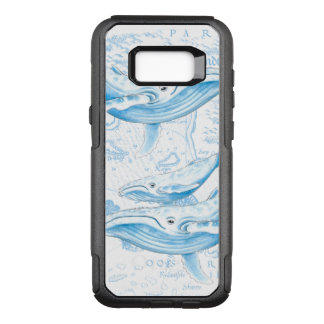 Blue Whales Family White OtterBox Commuter Samsung Galaxy S8+ Case