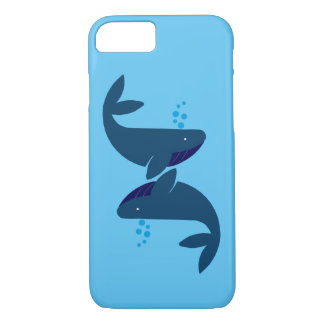 blue whales iPhone 8/7 case
