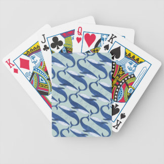 Blue Whales Pattern - by Jago Bicycle Playing Cards