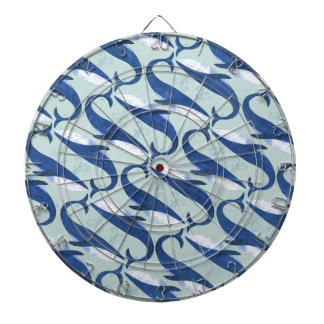 Blue Whales Pattern - by Jago Dartboard