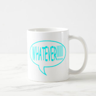 Blue Whatever Speech Bubble Coffee Mug