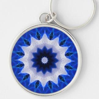 Blue Wheel Round Key Chain