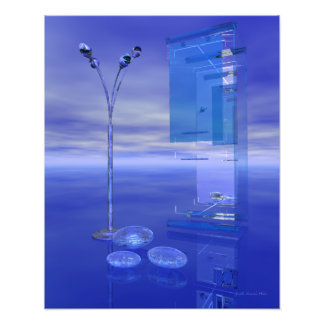Blue Whenever Surreal Science Fiction Art Photo Print