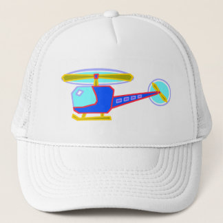 Blue Whirly-Curly Helicopter Trucker Hat