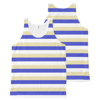 Blue, White and Beige Stripes