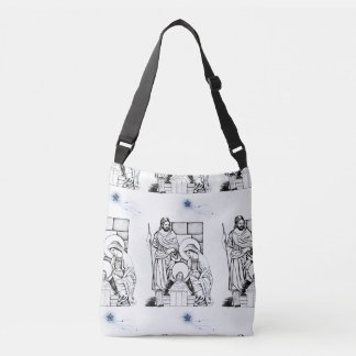 Blue, White and Black Original Nativity Crossbody Bag