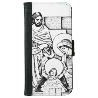 Blue, White and Black Original Nativity iPhone 6 Wallet Case
