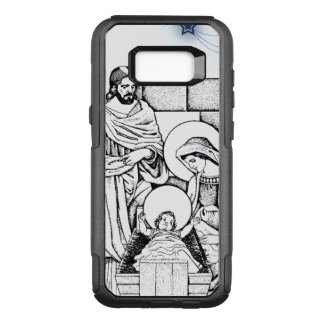 Blue, White and Black Original Nativity OtterBox Commuter Samsung Galaxy S8+ Case