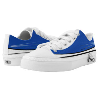 Blue White and Black Tres Lo-Top