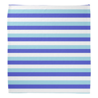 Blue, White and Pastel Blue Stripes Bandannas