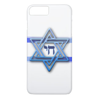 Blue White and The Star of David iPhone 7 Plus Case