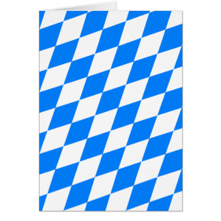 Blue & White Argyle Pattern Card