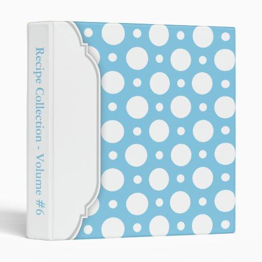Blue White Assorted Polka Dots custom Binder