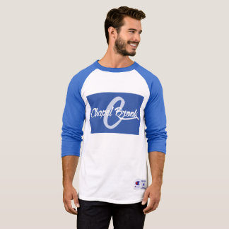 blue/white baseball long sleeve T-Shirt