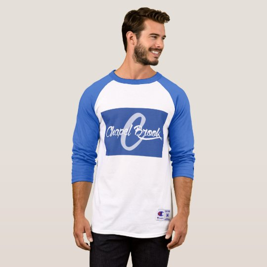 blue/white baseball long sleeve T-Shirt