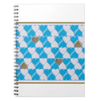 Blue, white Bavarian pattern. Notebooks