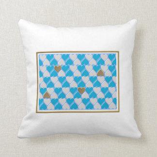 Blue, white Bavarian pattern. Throw Pillow