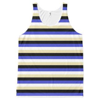 Blue, White, Beige and Black Stripes