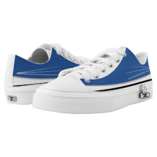 Blue White Black and Silver Tres Lo-Top