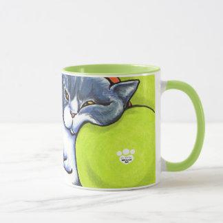 Blue White British Shorthair Cozy Off-Leash Art™ Mug