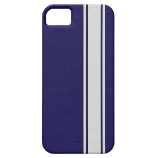 Blue & White Carbon Fiber Stripes iPhone 5 Case