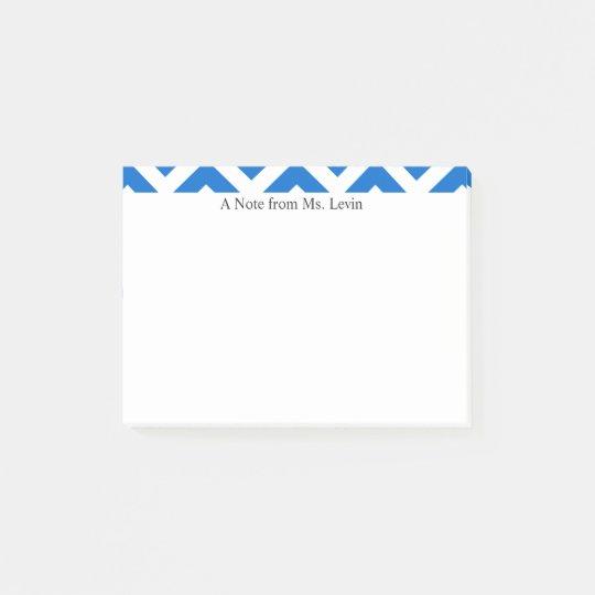 Blue White Chevron Lines Custom Notes
