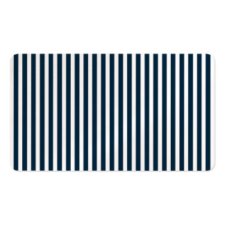 Blue & White Christmas Candy Cane Pattern Business Card