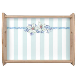 Blue & White Christmas Serving Tray