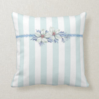 Blue & White Christmas Throw Pillow