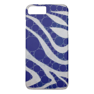 Blue White Circle Zebra Abstract iPhone 7 Plus Case