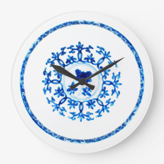 Blue White Clock