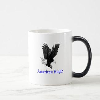 Blue & White Coffee Mug with American Eagle Art