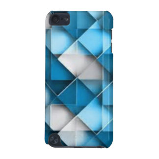 Blue & White Curved Diamond Shape Pattern design iPod Touch 5G Cover