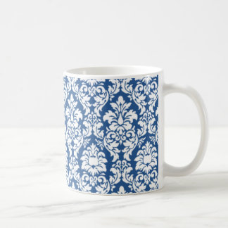 Blue & White Damask Coffee Mug