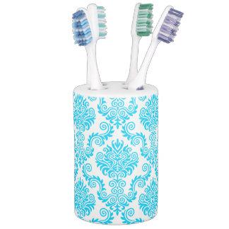Blue & White Damask Pattern{pick your color} Bathroom Set