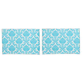Blue & White Damask Pattern{pick your color} Pillowcase