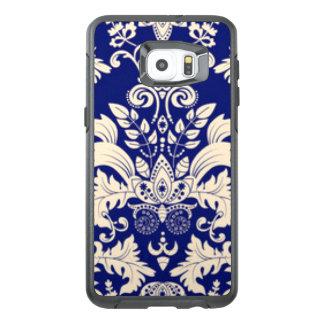 Blue & White Damask Pattern Print Design OtterBox Samsung Galaxy S6 Edge Plus Case