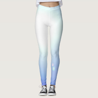 Blue White Dance Leggings Workout Sports Yoga